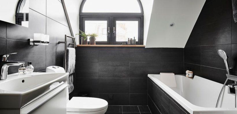 Идеальная ванная комната в идеальном черном цвете