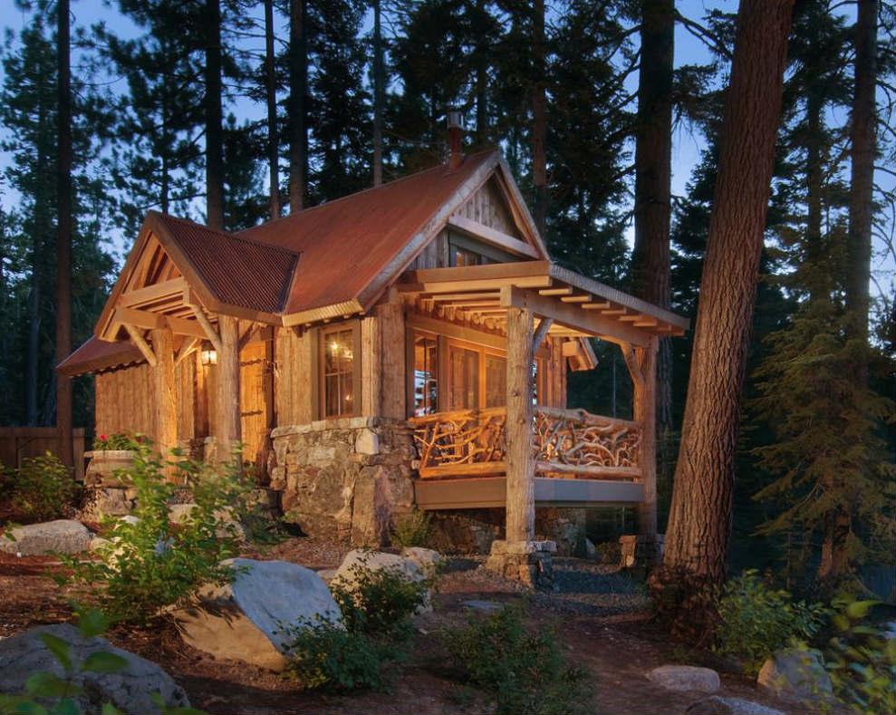 красивые дома в лесу фото