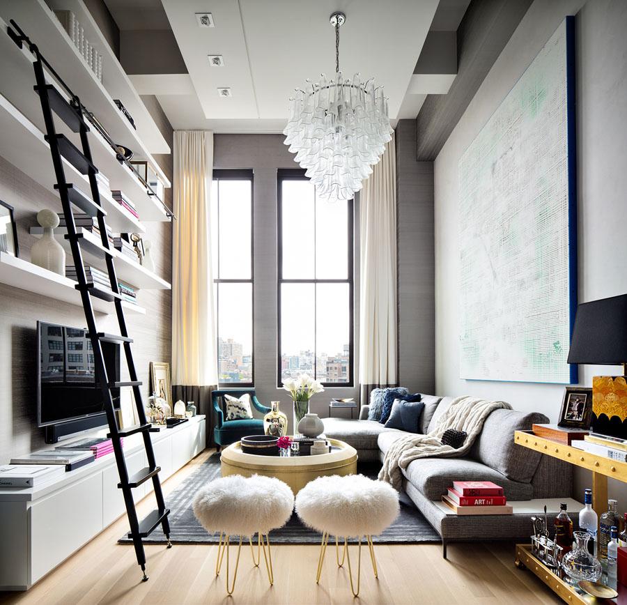 Стильная квартира с мини-библиотекой из Нью-Йорка