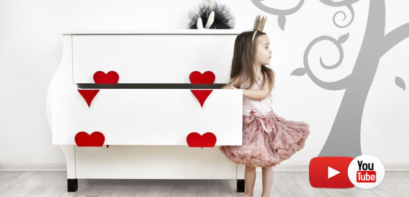 Алиса в стране чудес: детская мебель ручной работы