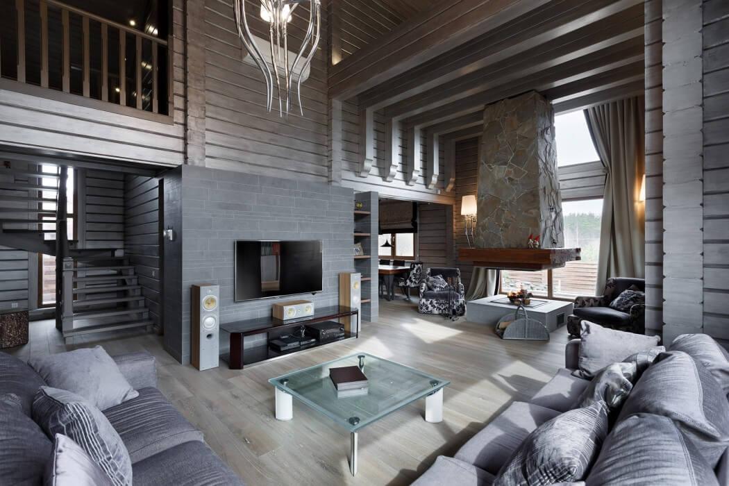 деревянные дома интерьер