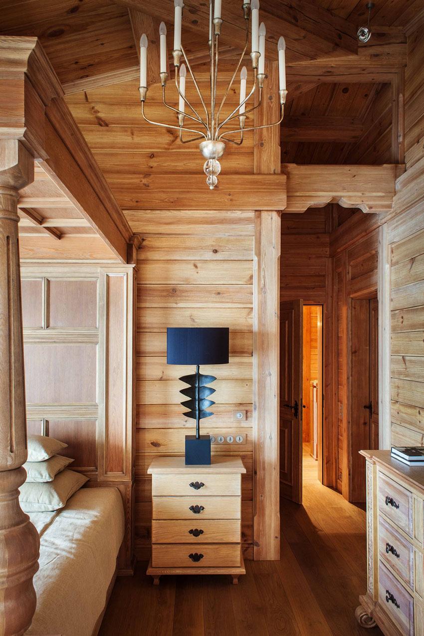 деревянные дома внутри