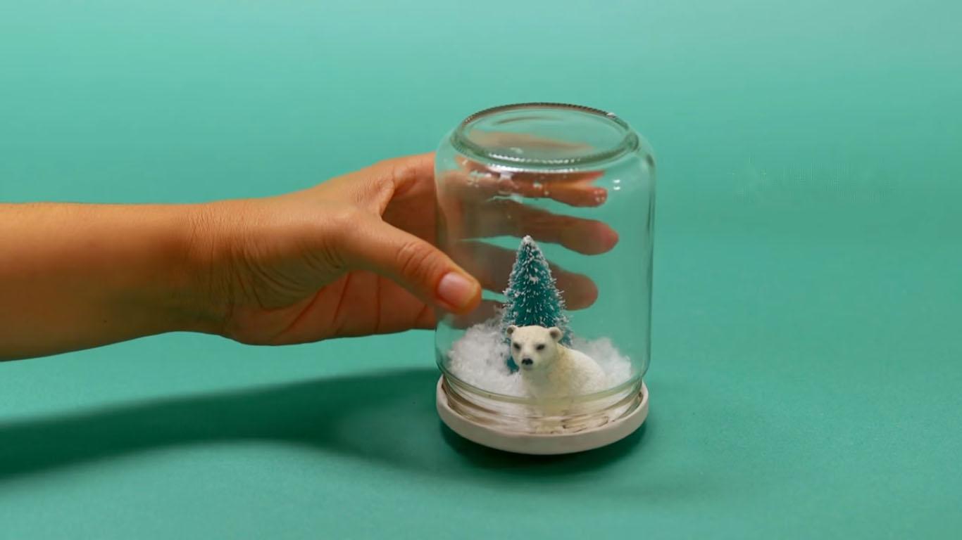 шар со снегом своими руками