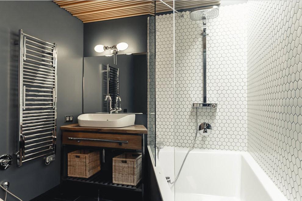 Современный дизайн плитки в ванной: 53 фото + советы