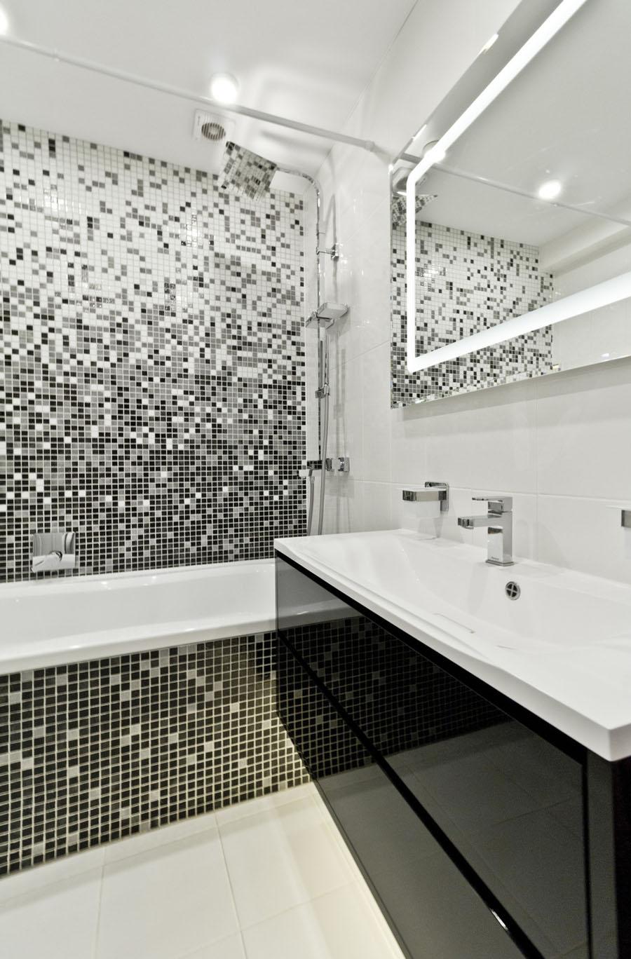 дизайн плитки в ванной хрущевке