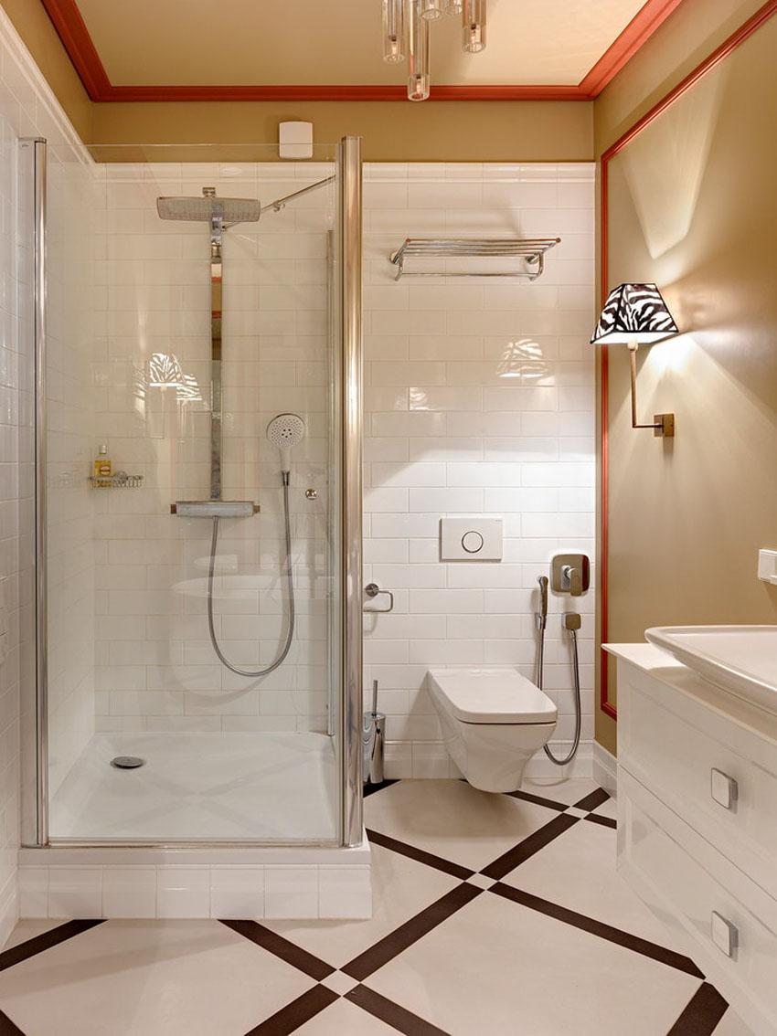 красивые ванные комнаты с душевой кабиной