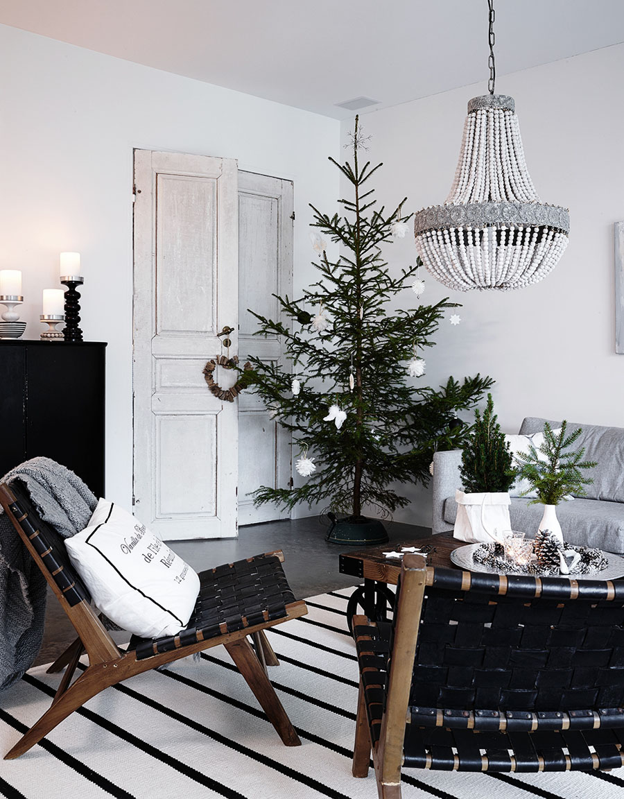 елка в скандинавском стиле