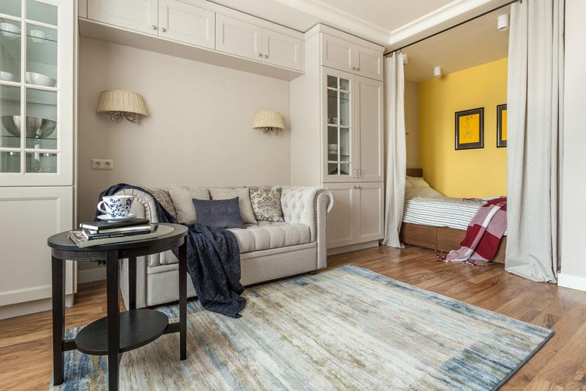 гостиная спальня 17 кв м