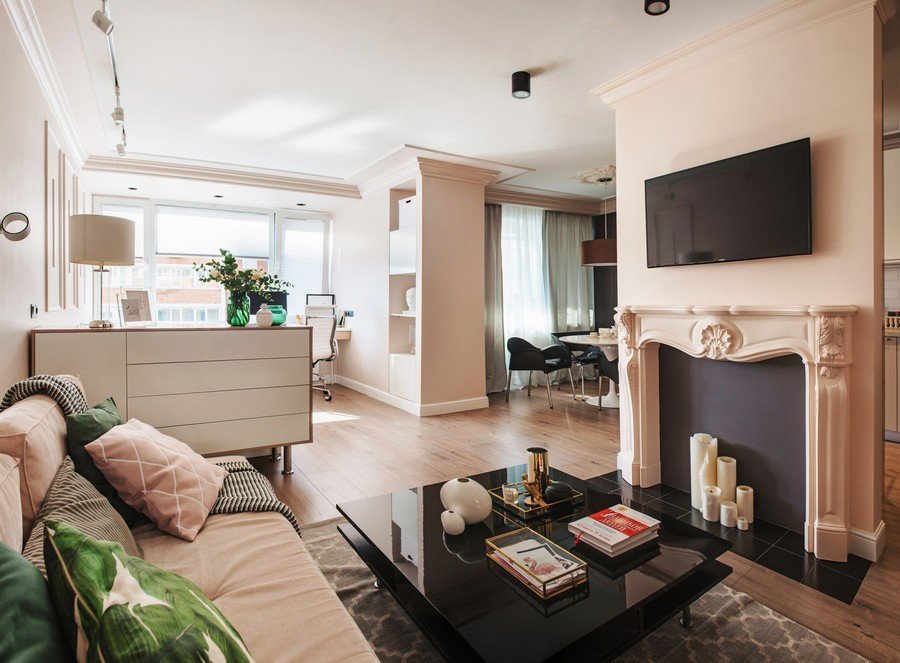 дизайн спальни гостинной