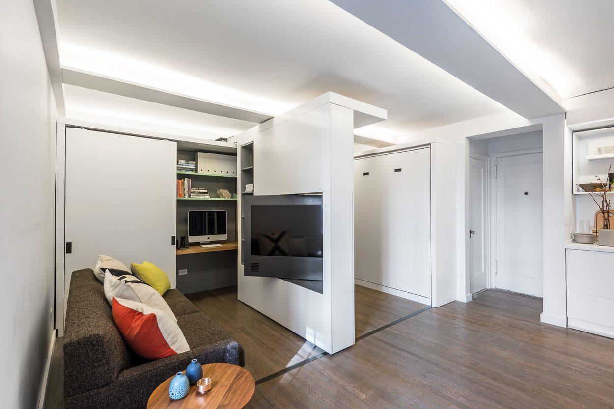 дизайн гостинной совмещенной со спальней