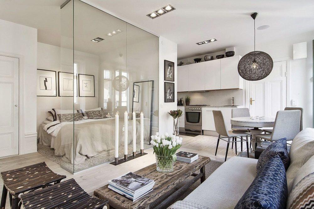 дизайн гостинной спальни