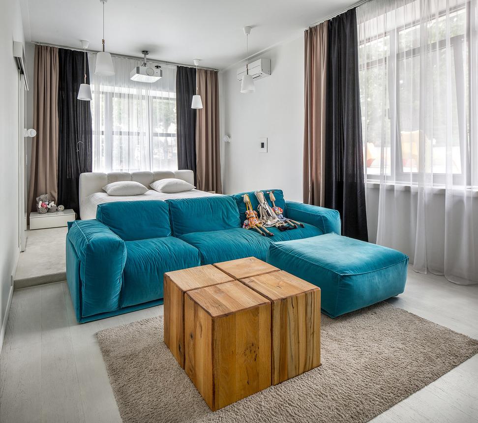 дизайн гостиной спальни 16 кв м