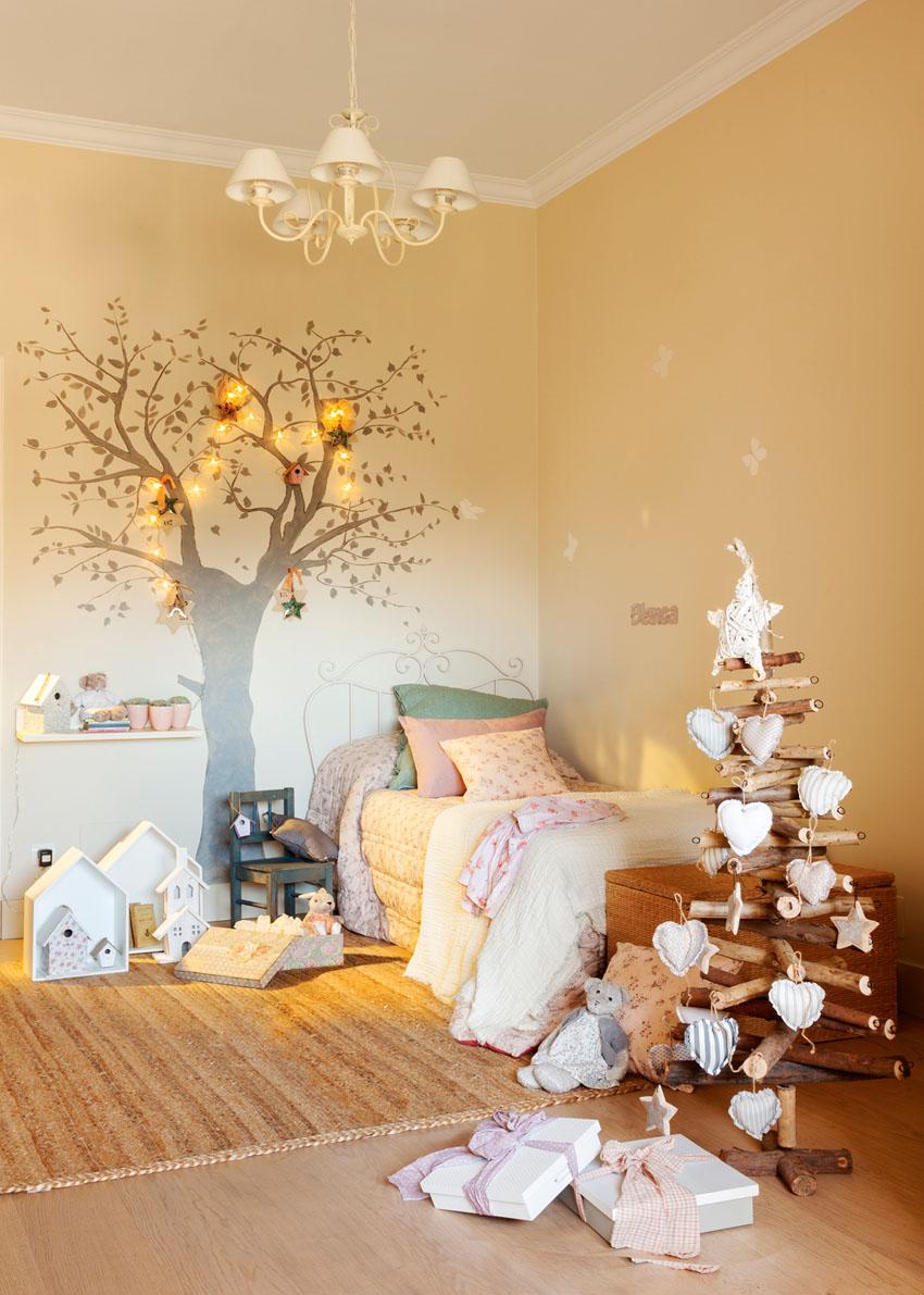 как украсить комнату на новый год