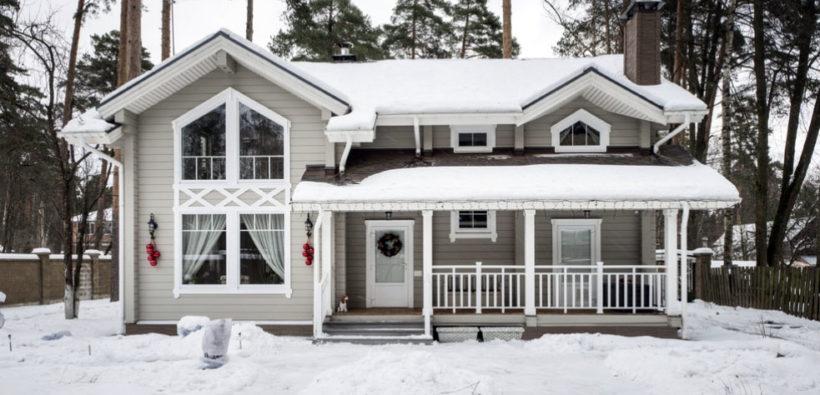 Красивый дом из бруса на 150 кв. м