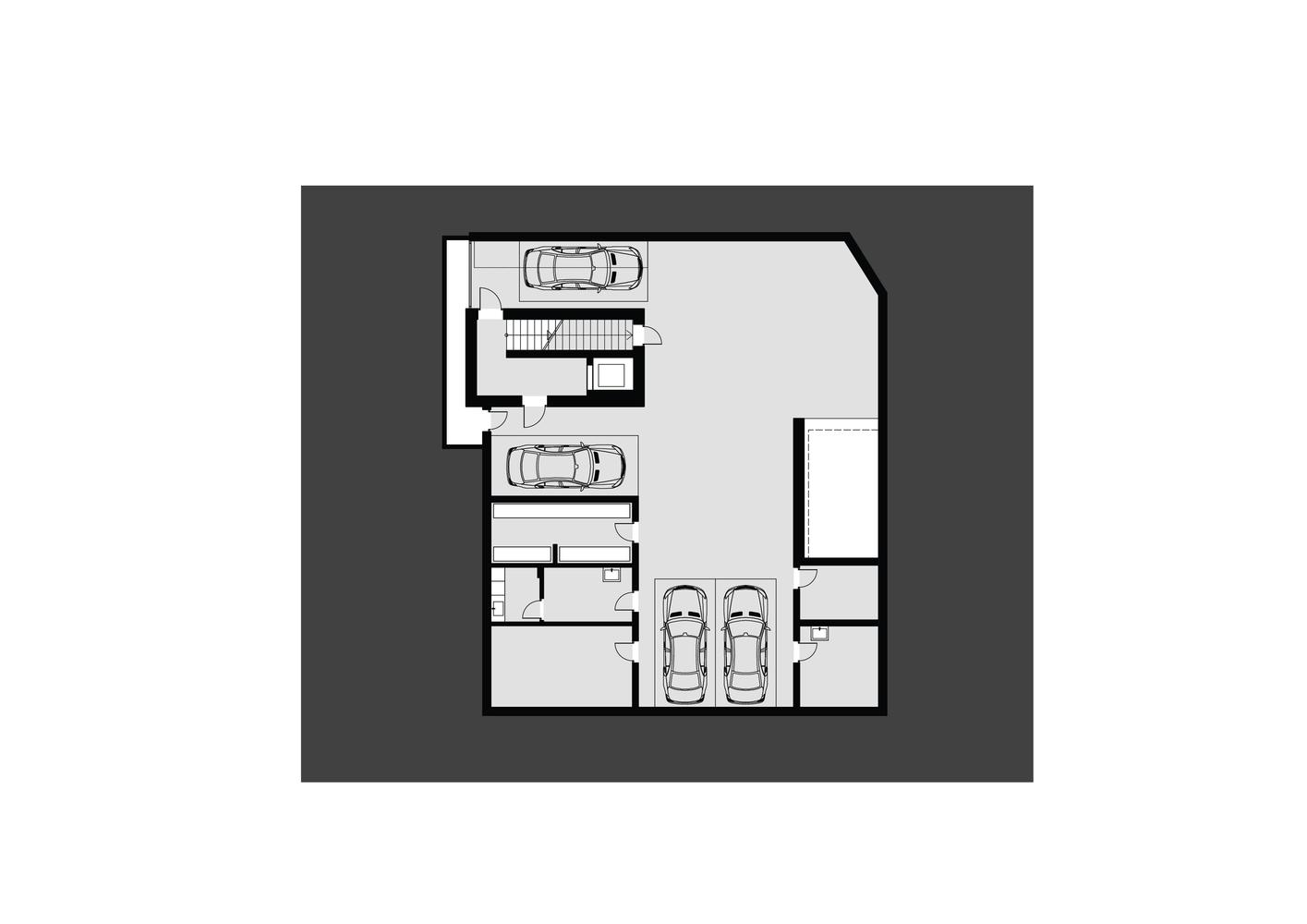 проект дома с подземным гаражом
