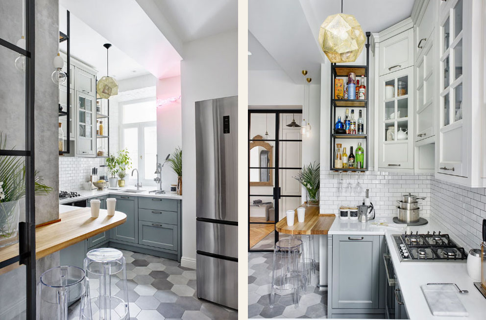 маленькая кухня фото
