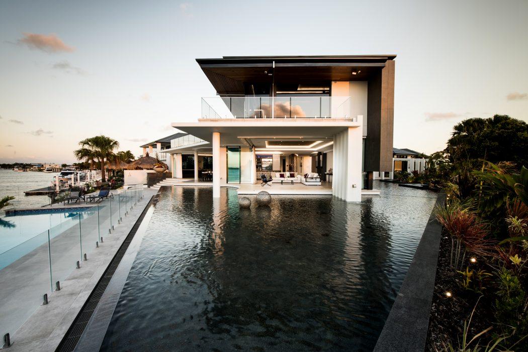 современный дом минимализм
