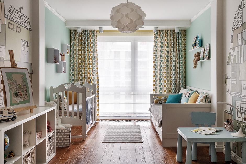 Дизайн детской комнаты в хрущевке для двоих детей