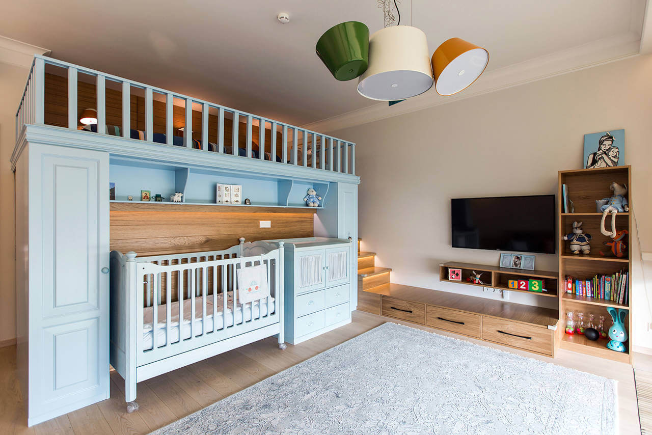 Дизайн детских комнат для двоих детей разного возраста фото