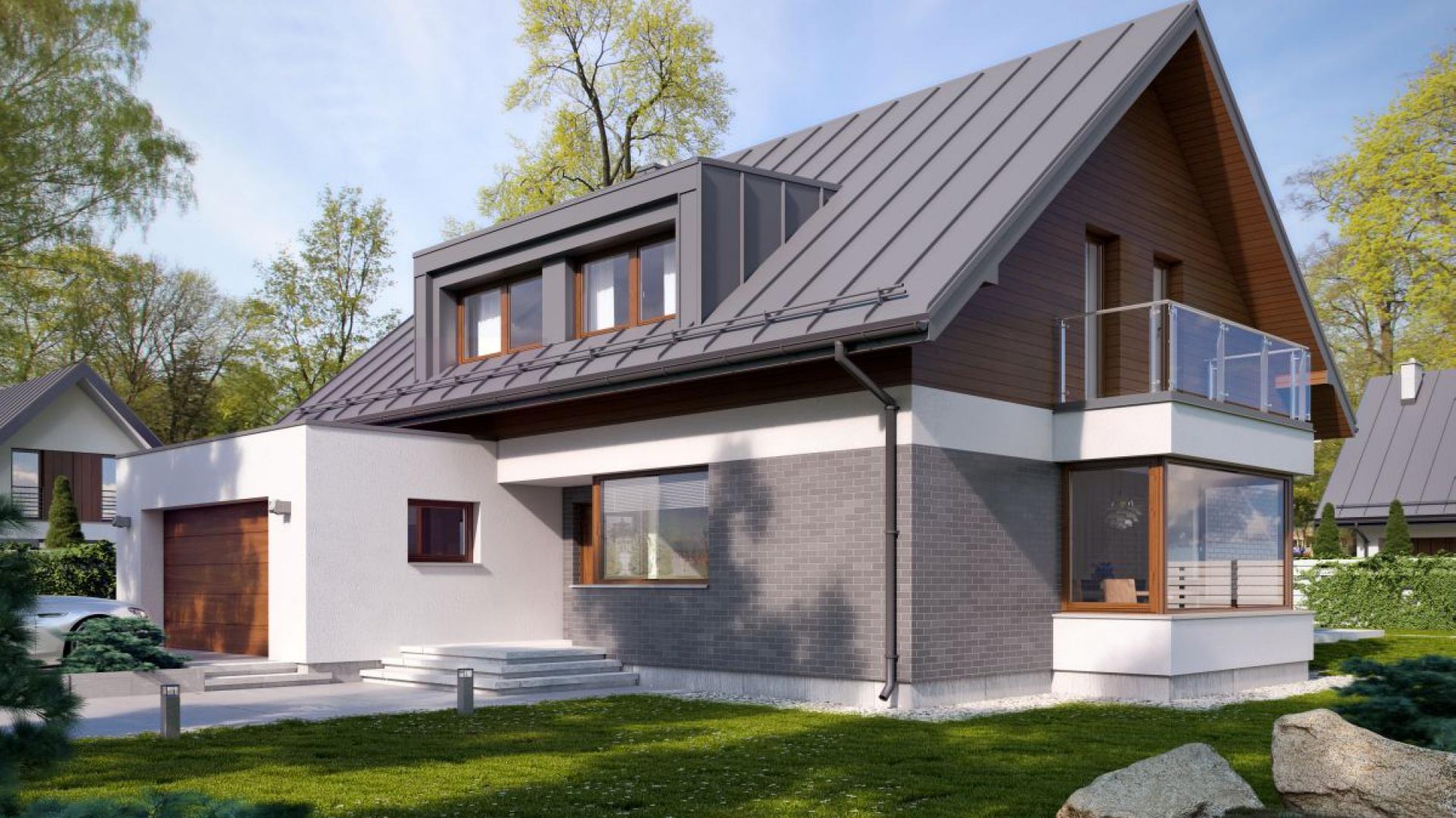 Готовый проект дома с мансардой на 160 кв. м