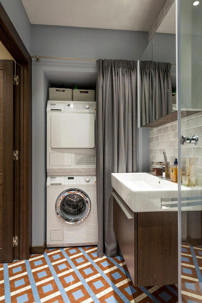 Дизайн ванной (4 кв. м) со стиральной машиной
