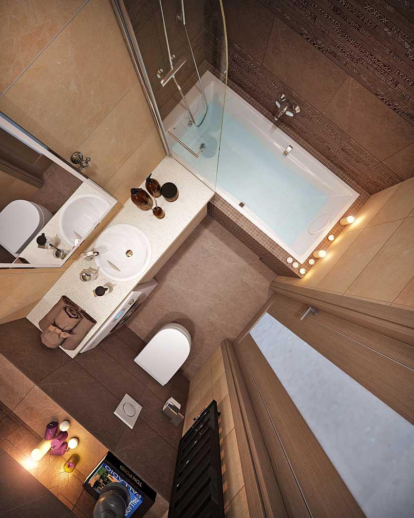 дизайн ванной 4 кв. м