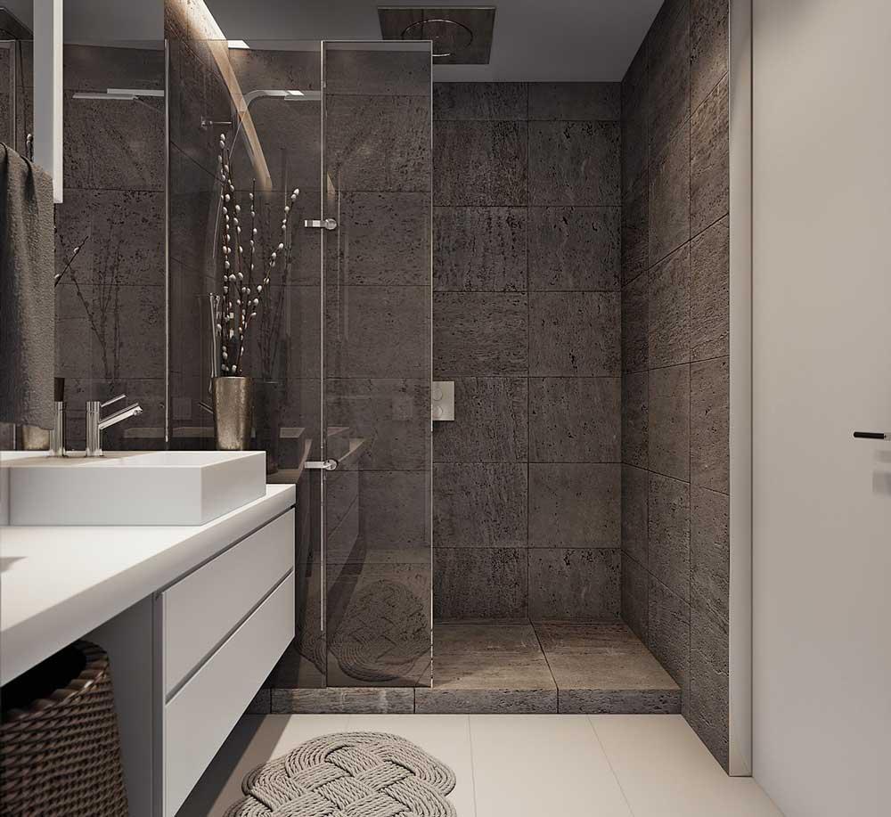 дизайн ванной комнаты с душевой кабиной