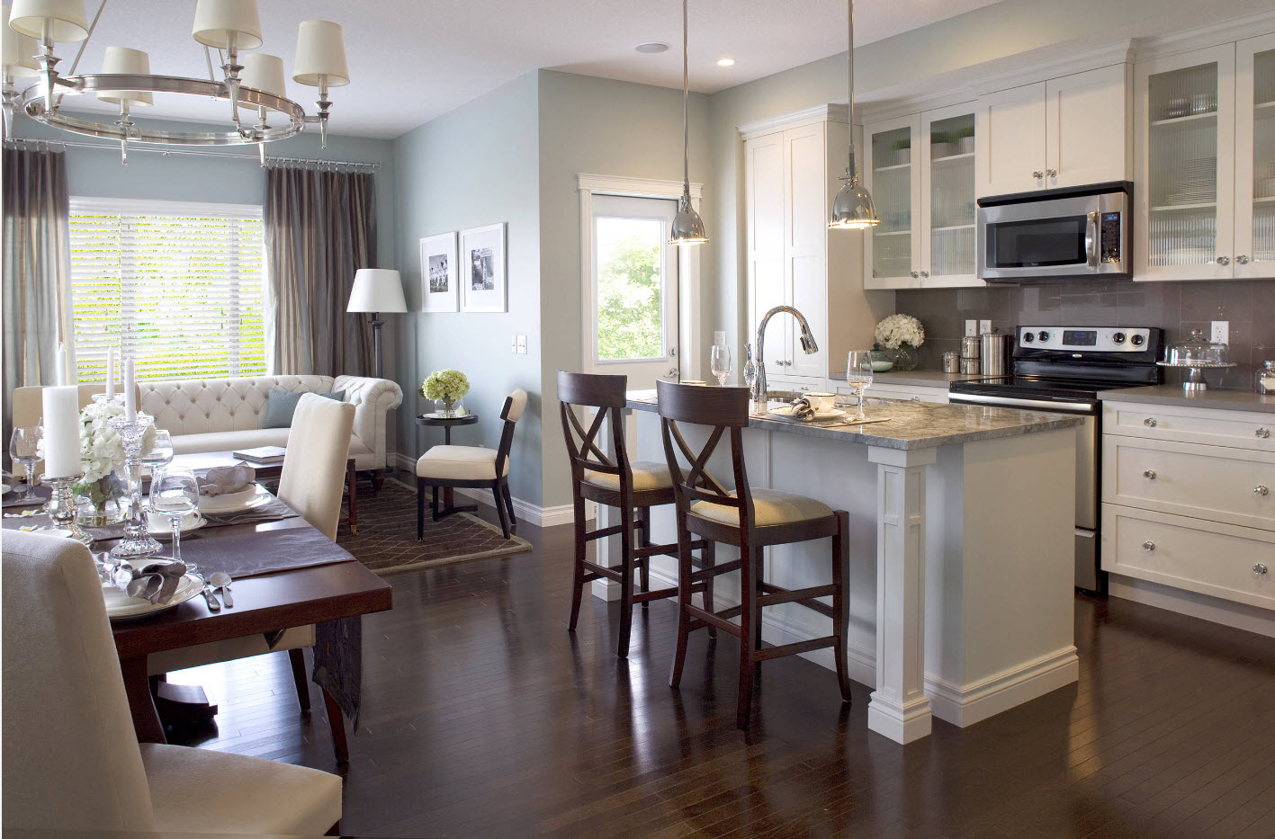 современный дизайн кухни гостиной 42 фото идеи