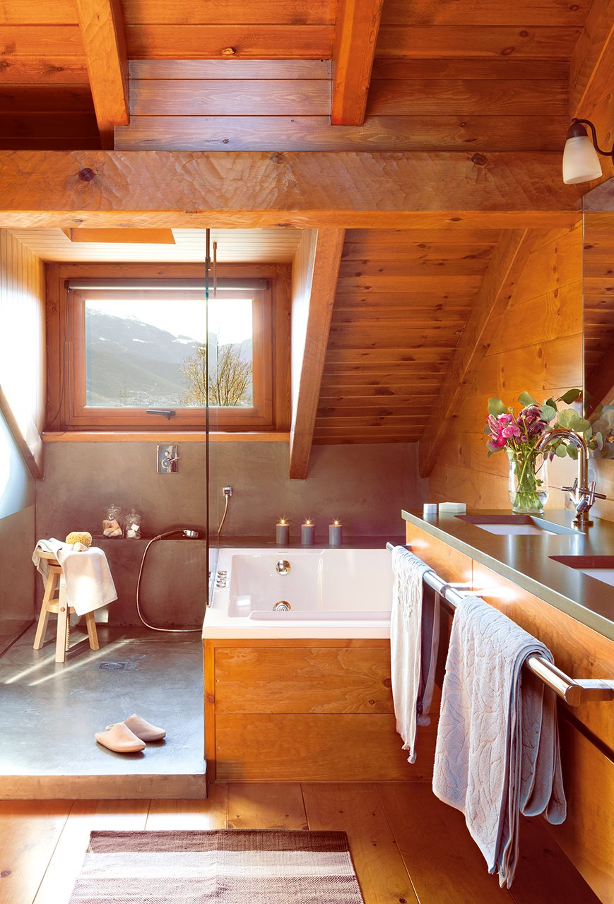 внутренний дизайн деревянного дома фото