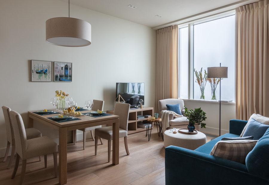 дизайн 3 х комнатной квартиры 80 кв. м