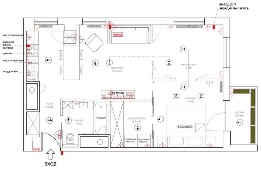 проекты 3 комнатных квартир