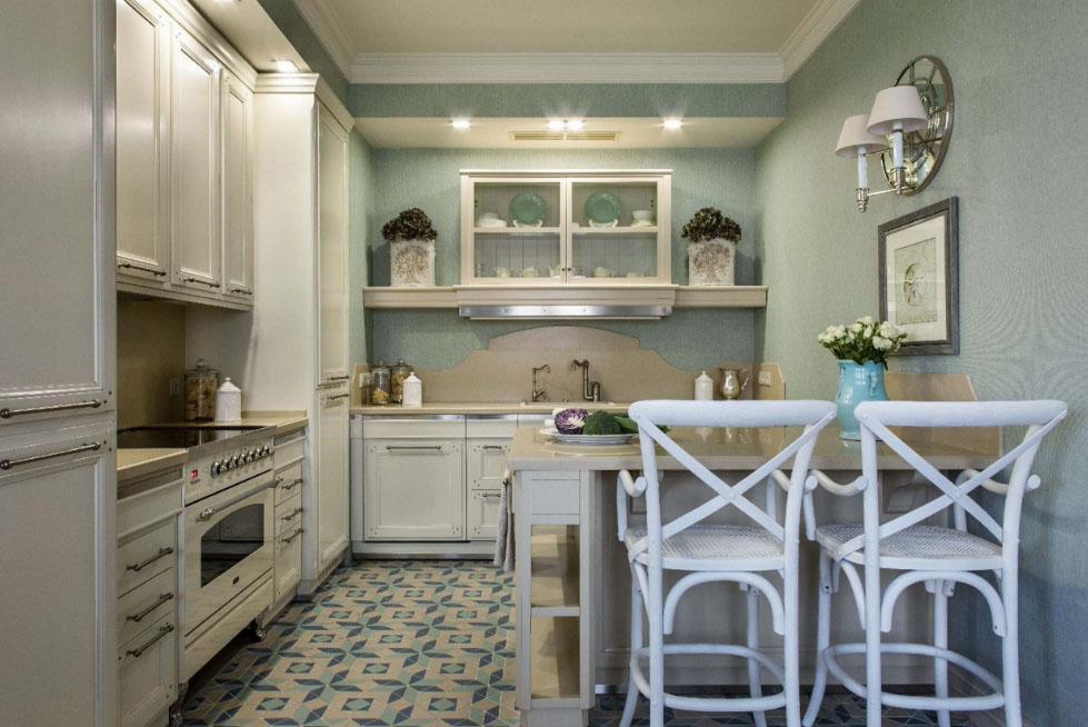 кухня в классическом стиле в квартире