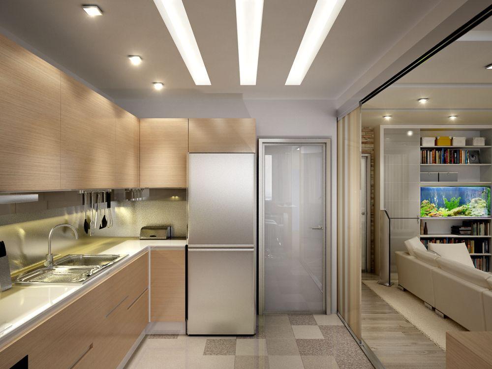 расширение кухни в квартире