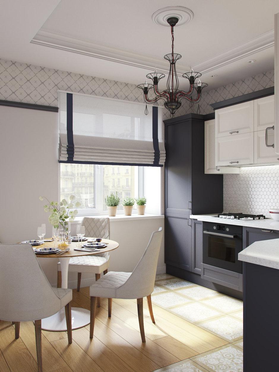 Шторы для черно-белых кухонь