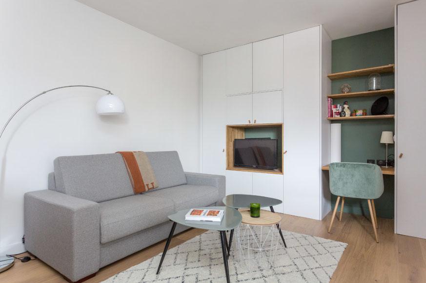 дизайн квартиры студии 28 кв м