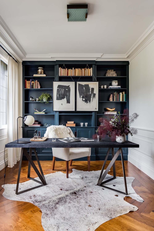 интерьер кабинета дома