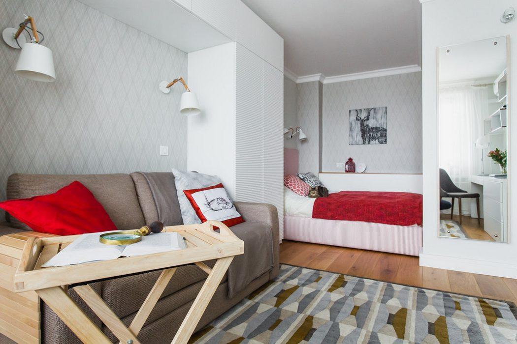 отделить спальную зону однокомнатной квартире