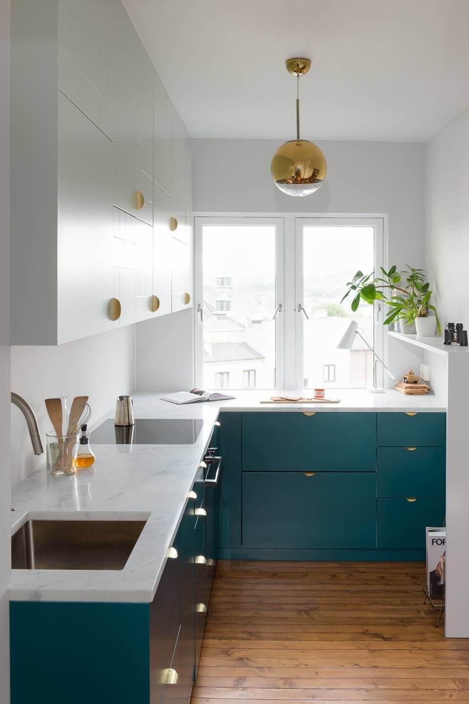 дизайн угловой кухни 7 кв м