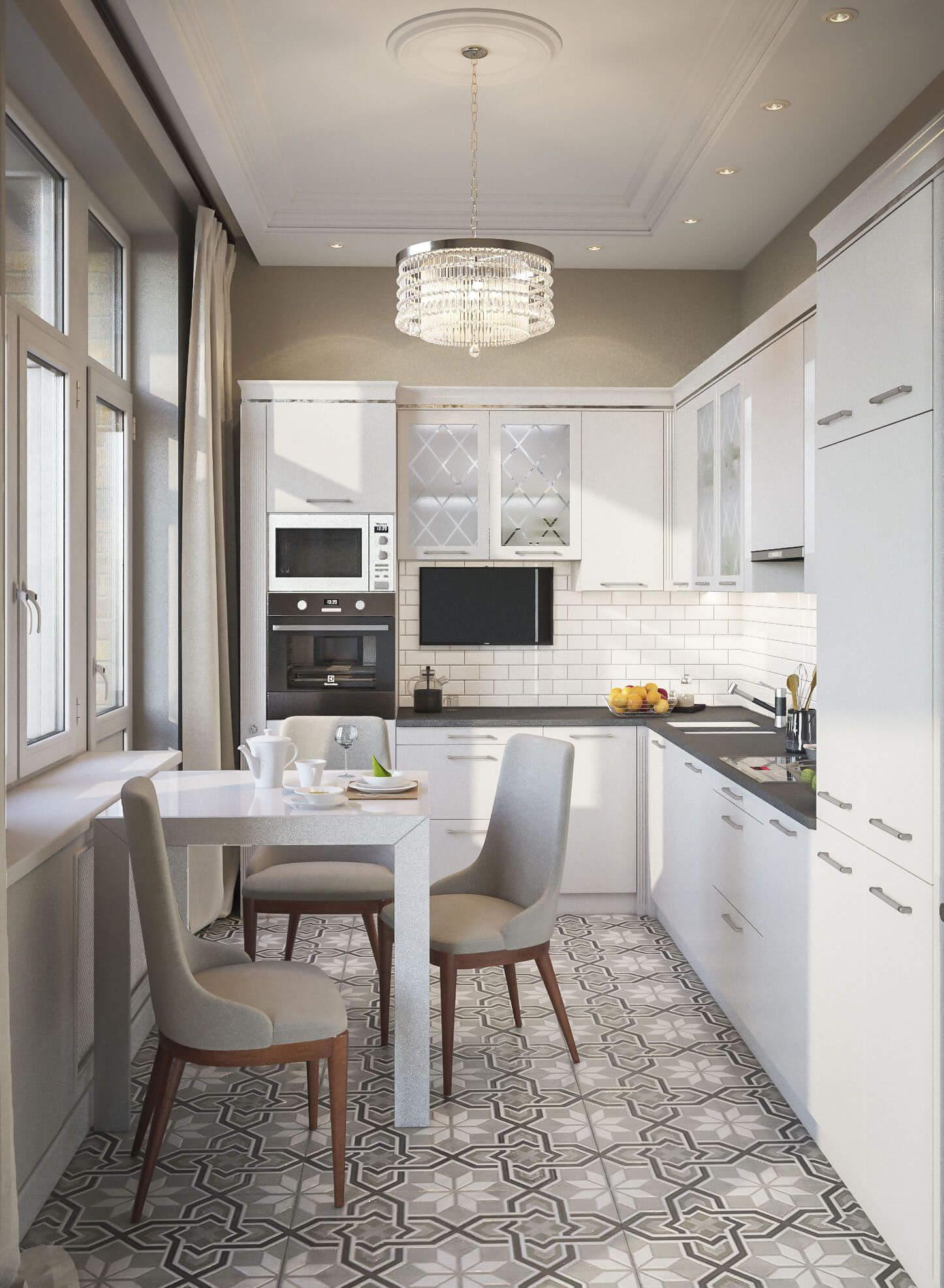 дизайн кухни 7 кв м в панельном доме