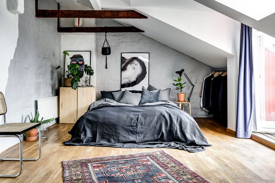Скандинавская квартира на мансарде: разбираем по кусочкам
