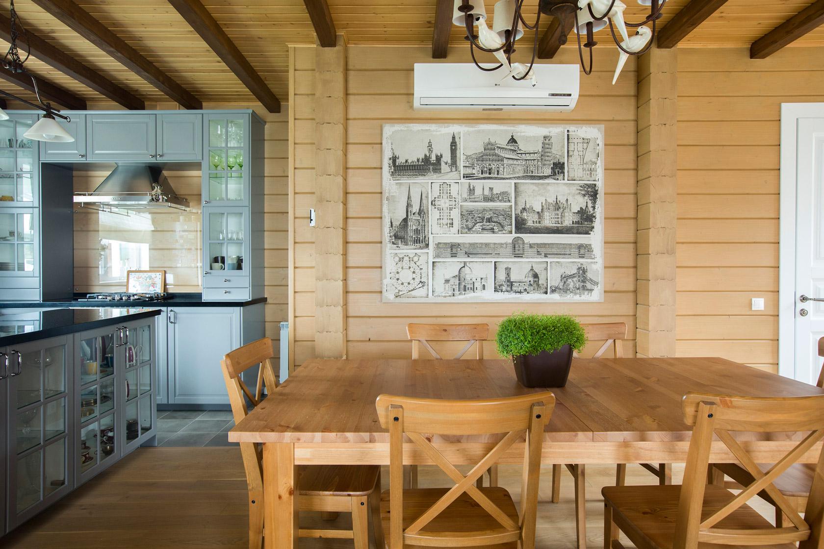 внутренний дизайн деревянного дома
