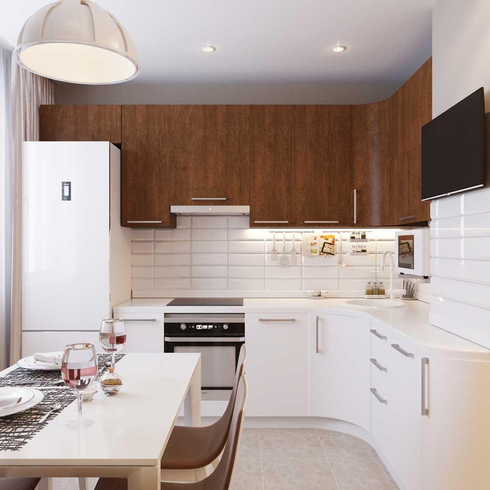 дизайн 8 метровой кухни