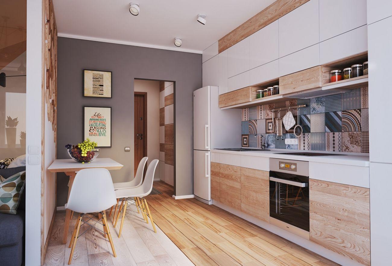 дизайн кухни 8 кв м узкая