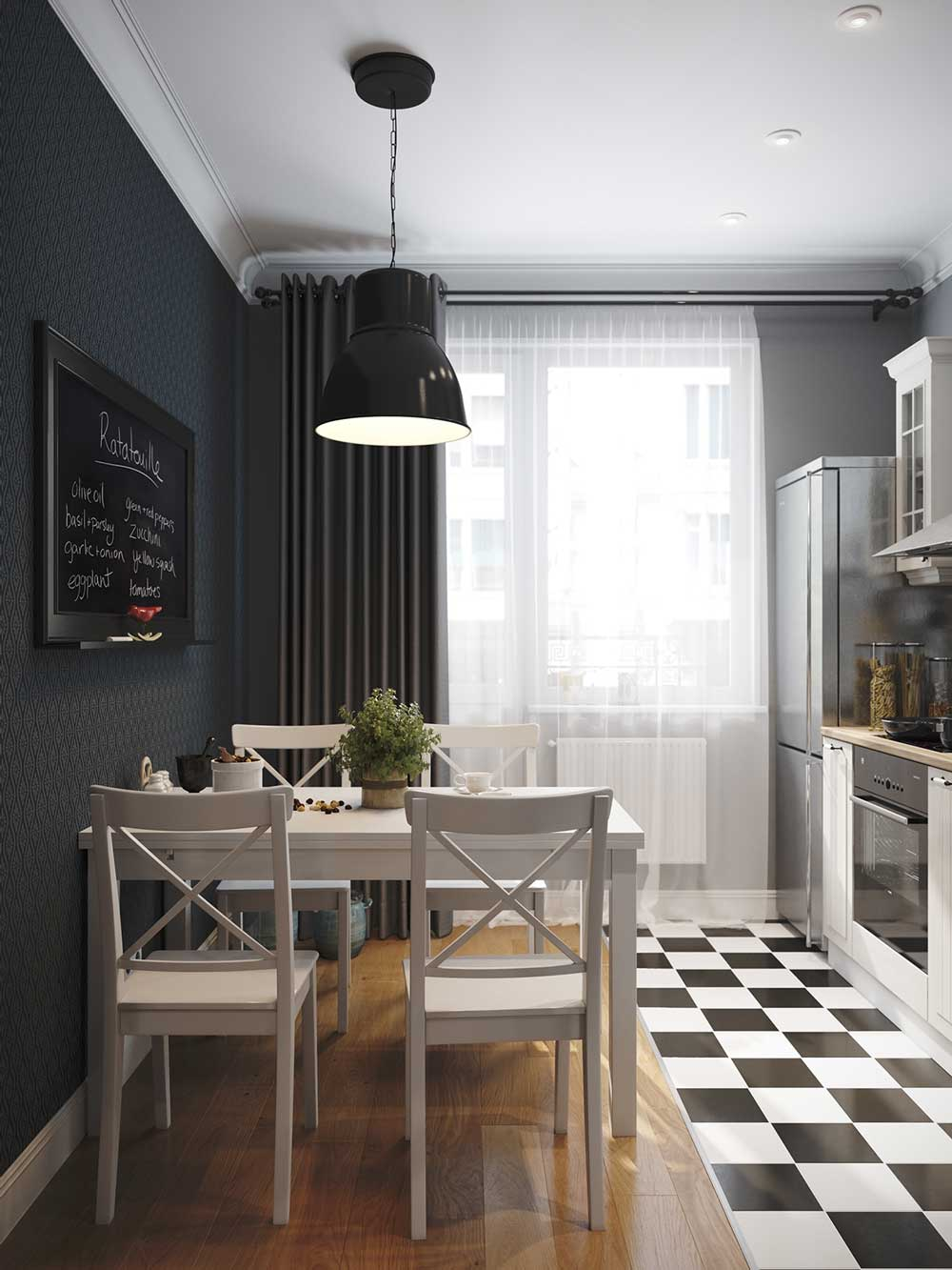 дизайн кухни 8 метров