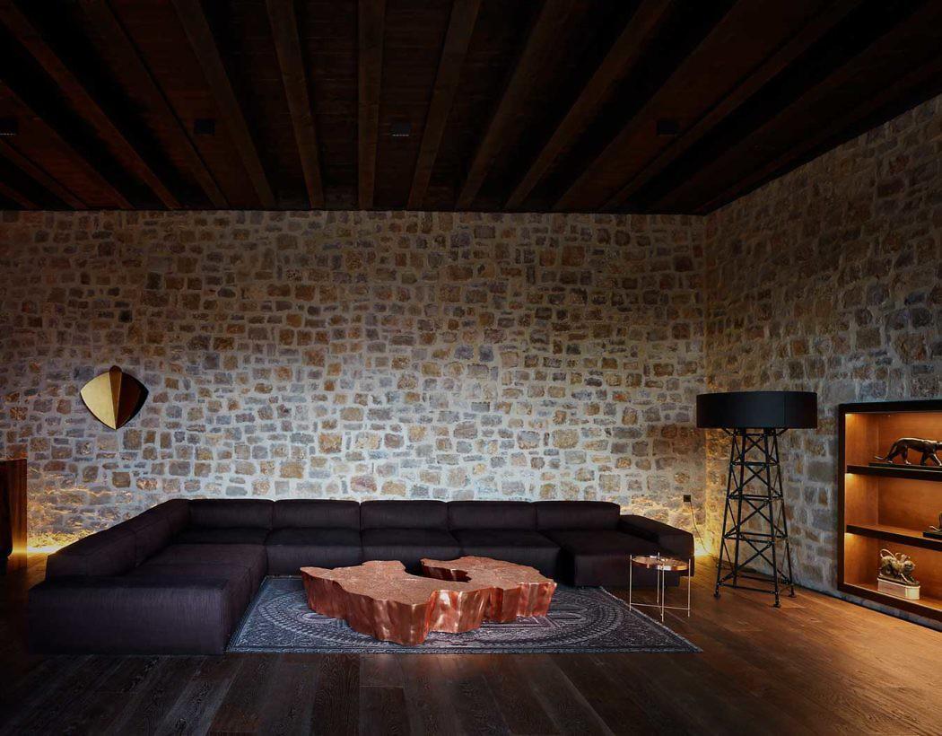 интерьер гостинной в доме