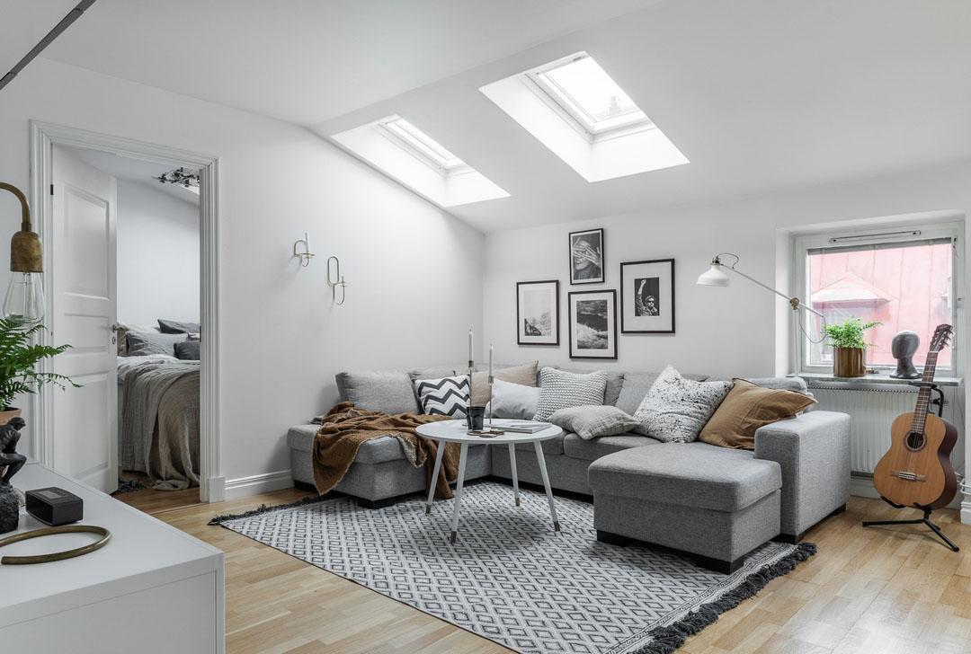 скандинавский интерьер квартиры
