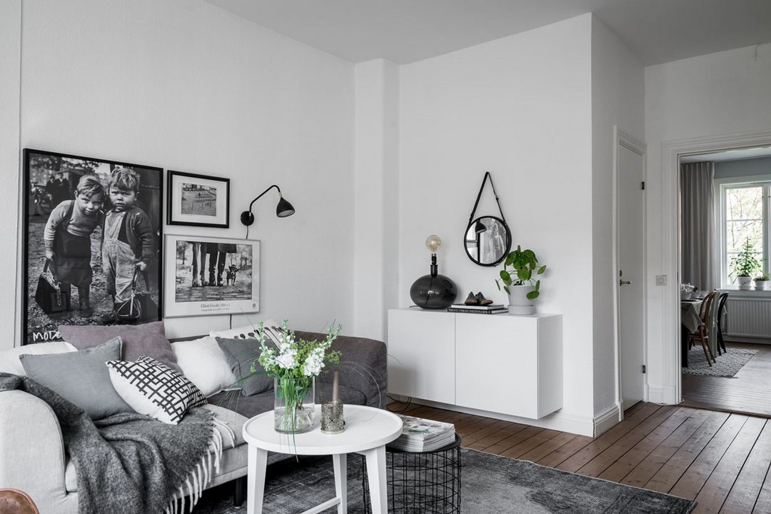 дизайн однокомнатной квартиры в скандинавском стиле