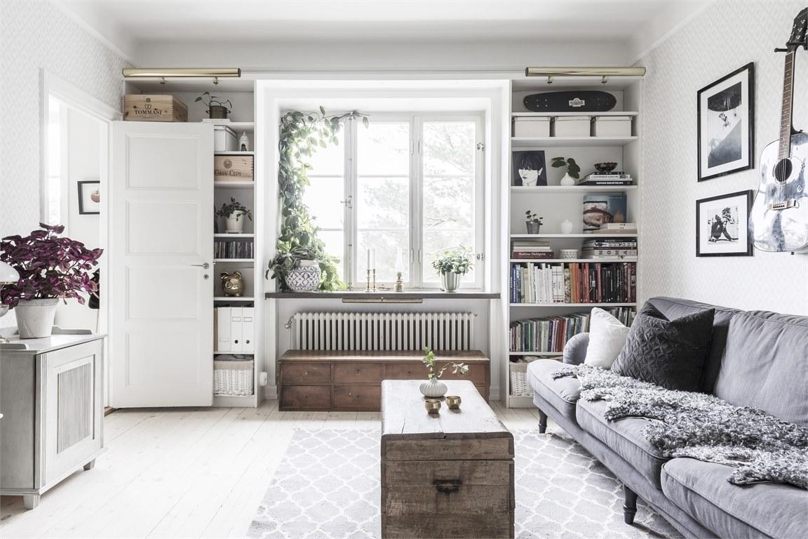 дизайн гостинной в скандинавском стиле