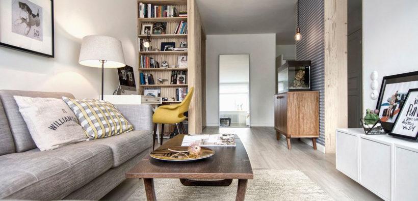 Дизайн 2-ух комнатной квартиры 60 м2: скандинавский минимализм