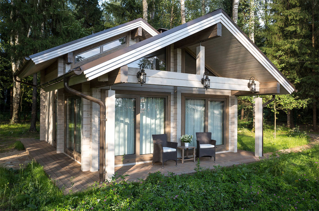 Отделка фасада загородного дома: популярные стили